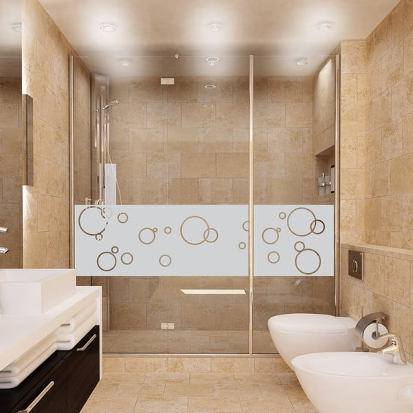 Naklejka wodoodporna na kabinę prysznicową Ambiance Bubbles