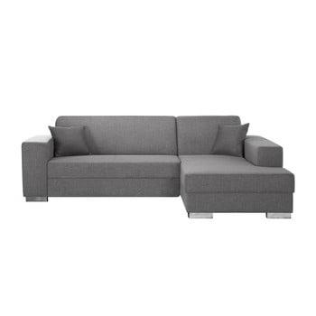 Canapea cu șezlong partea dreaptă Interieur De Famille Paris Bijou, gri – maro de la INTERIEUR DE FAMILLE PARIS