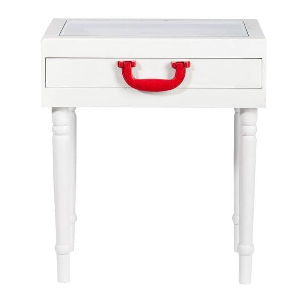 Odkládací stolek Diva White, 45x32x52 cm