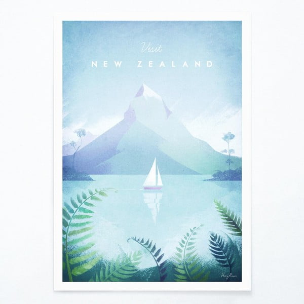 Plakát Travelposter New Zealand, A2