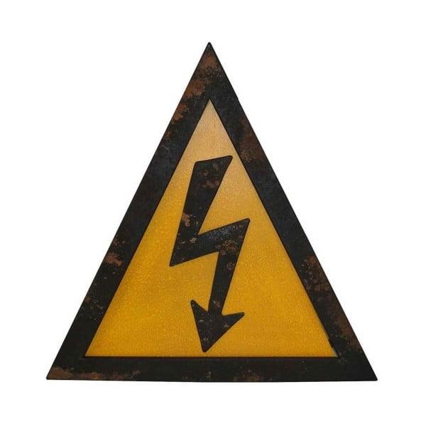 Kovová nástěnná cedule Antic Line Electricite