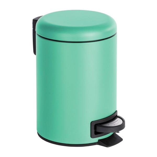 Coș de gunoi cu pedală Wenko Leman, 3 l, verde mentă