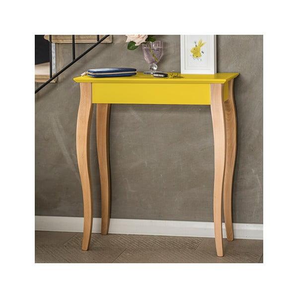 Světle tyrkysový konzolový odkládací stolek Ragaba Console,délka65cm