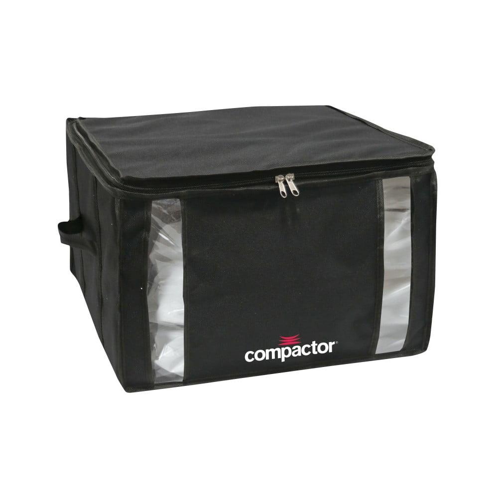 Černý úložný box s vakuovým obalem Compactor Black Edition, objem 125 l