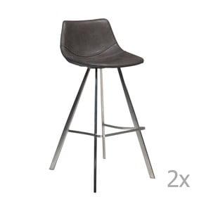 Set 2 scaune bar cu bază din oțel DAN-FORM Pitch, gri