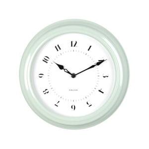 Zelené nástěnné hodiny Present Time Fifties, průměr 30cm