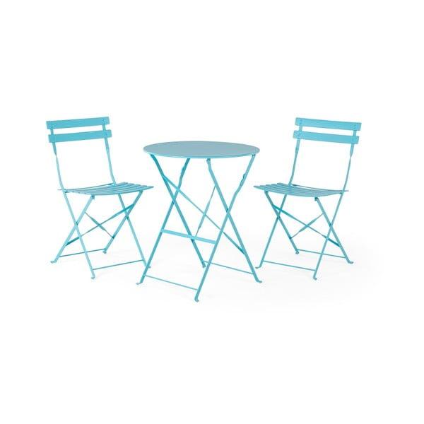 Set modrého záhradného nábytku Monobeli Retro