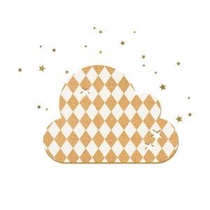 Dekorativní samolepící nástěnka Dekornik French Cloud White Stars