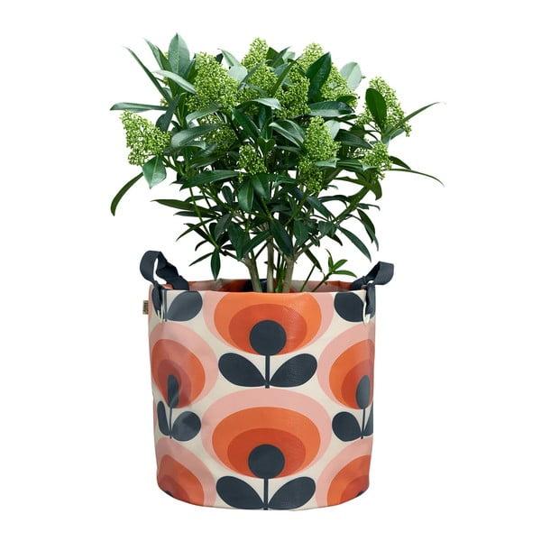 Ghiveci textil Orla Kely Anthurie, Ø 30 cm, portocaliu