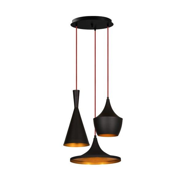 Elmas Drop fekete függőlámpa 3 izzóval - Opviq lights