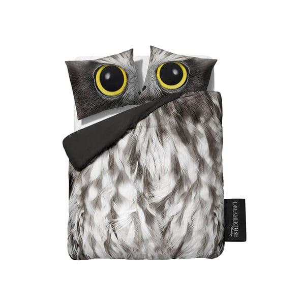 Povlečení Owl Look Grey, 240x200 cm
