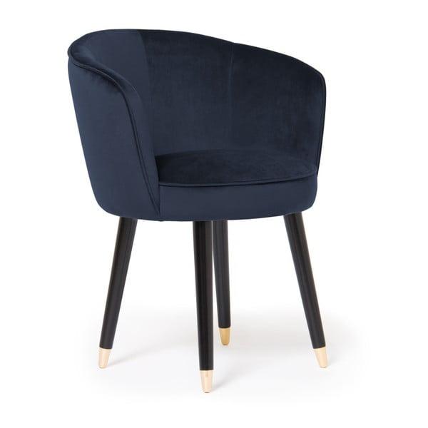Sada 2 tmavě modrých židlí Vivonita Valerie