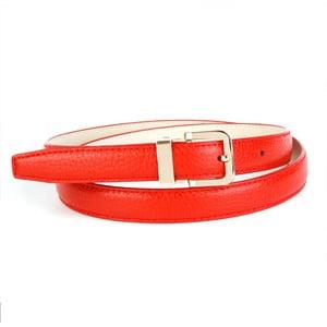 Dámský kožený pásek 44T60 Red, 80 cm