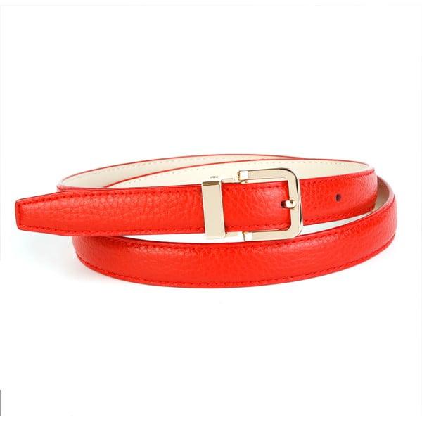 Dámský kožený pásek 44T60 Red, 90 cm