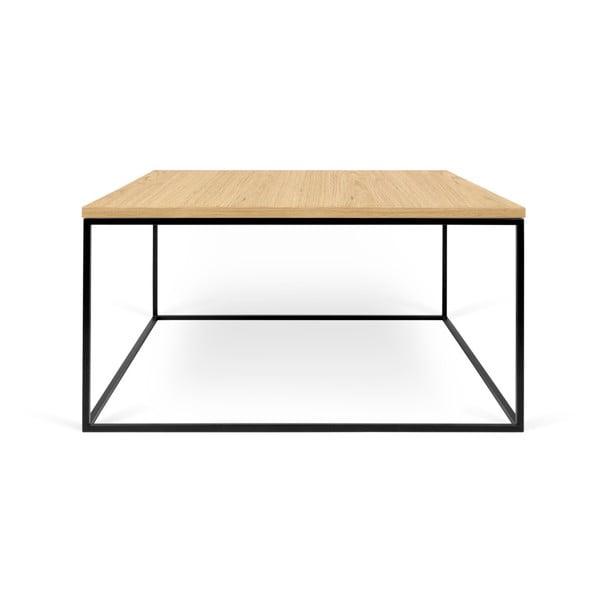 Konferenční stolek s černými nohami TemaHome Gleam, 75 x 75 cm