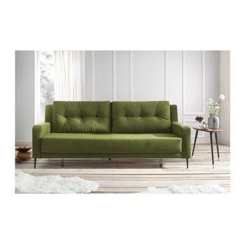 Canapea extensibilă Bobochic Bergen verde