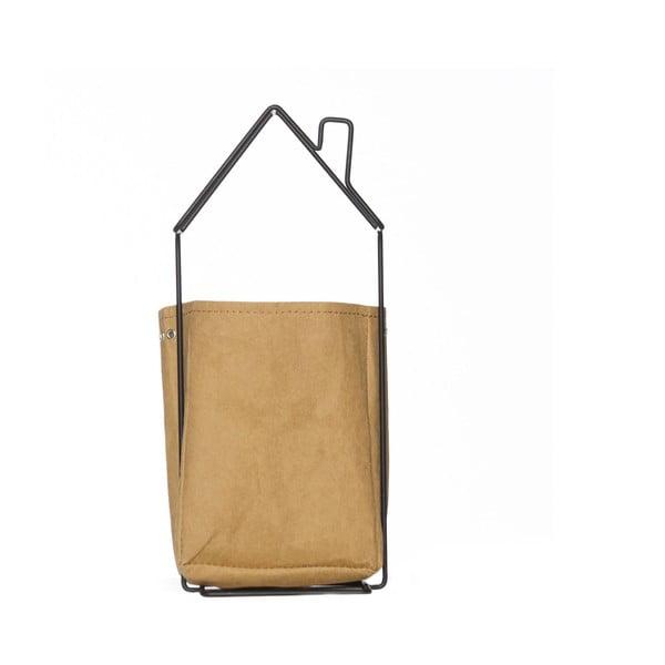 Suport pentru ghiveci din hârtie lavabilă cu structură metalică Furniteam Plant, 17 x 13 cm
