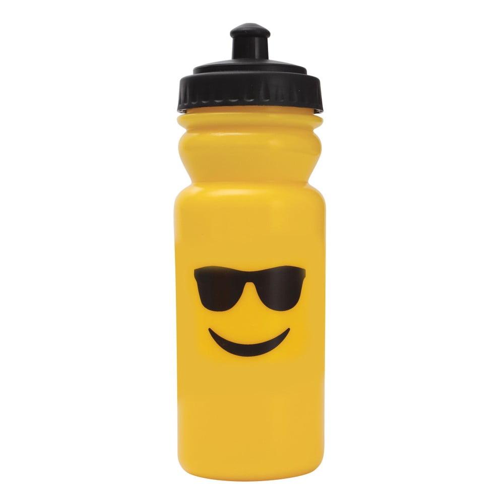 Sportovní lahev na vodu Bergner Emoticon Sunglasses, 600 ml
