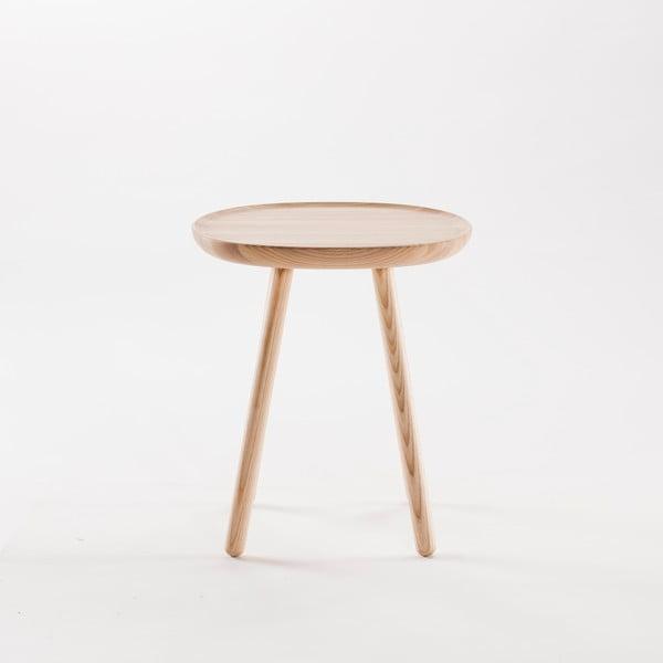 Naturalny stolik z litego drewna EMKO Naïve Small, ø45cm