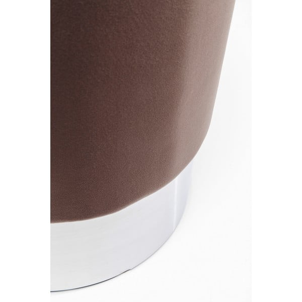 Hnědá stolička Kare Design Cherry, ∅35cm