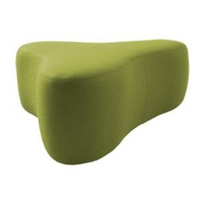 Zelený puf Softline Chat Felt Melange Lime, délka 90 cm