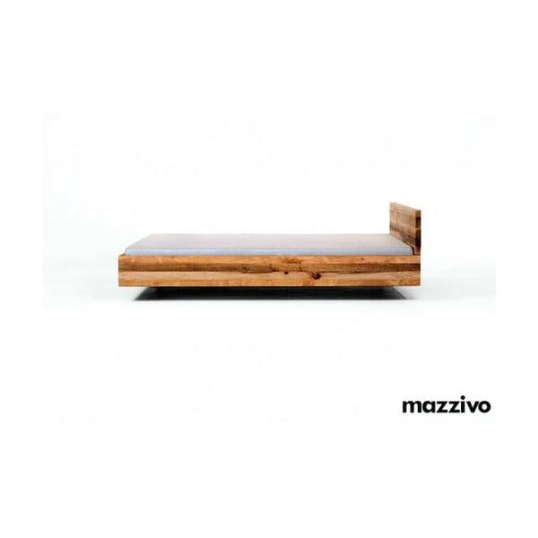 Postel Pool z olšového dřeva, 200x200 cm, bezbarvý vosk