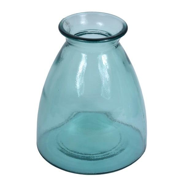 Florero kék újrahasznosított üveg váza, magasság 20 cm - Ego Dekor