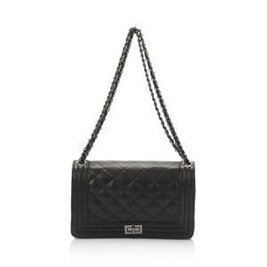 Černá kožená kabelka Lisa Minardi Silviana