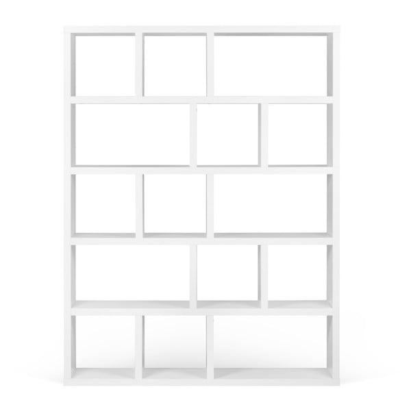 Berlin fehér könyvespolc, 150 x 198 cm - TemaHome