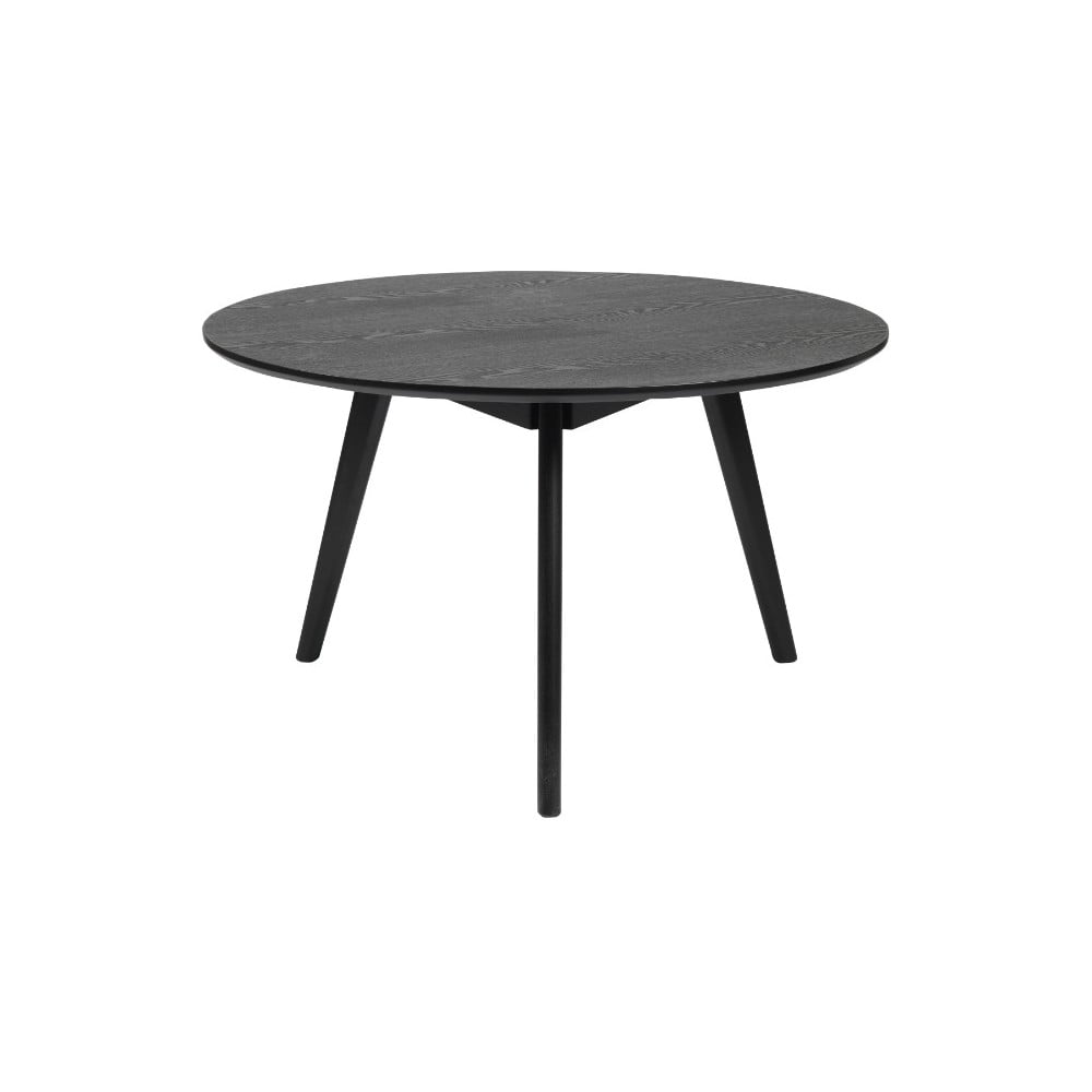 Černý konferenční stolek z jasanového dřeva Folke Yumi, ∅9cm