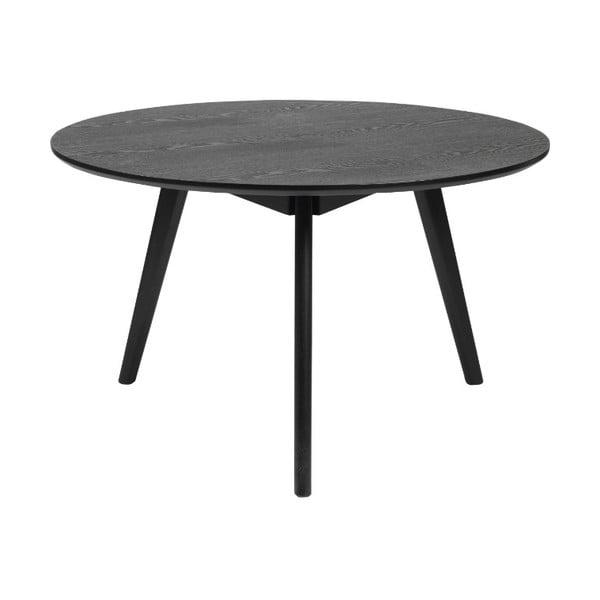 Černý konferenční stolek z jasanového dřeva Rowico YuRAi , ⌀ 90cm