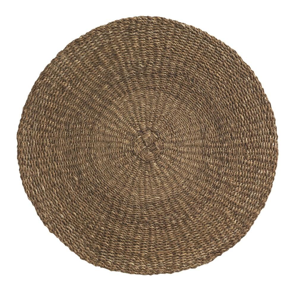 Hnědý koberec z mořských řas Geese Rustico Natura, ⌀ 100 cm