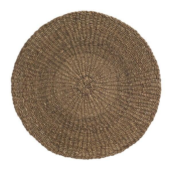 Brązowy dywan z wodorostów Geese Rustico Natura, ⌀ 100 cm