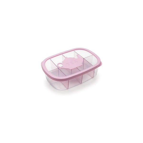 Růžová krabička na čaj Snips Tea