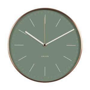 Zelené hodiny Present Time Minimal Jungle
