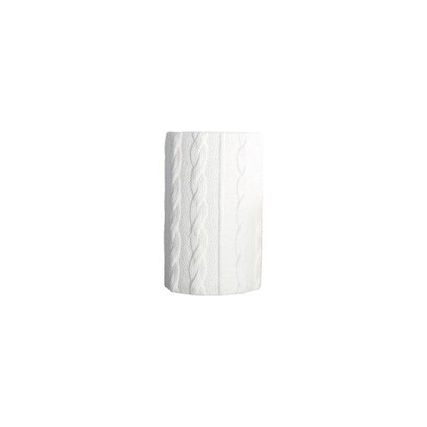 Váza Knitted, white, 24 cm