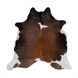 Covor din piele de vacă, 196 x 160 cm, negru - maro