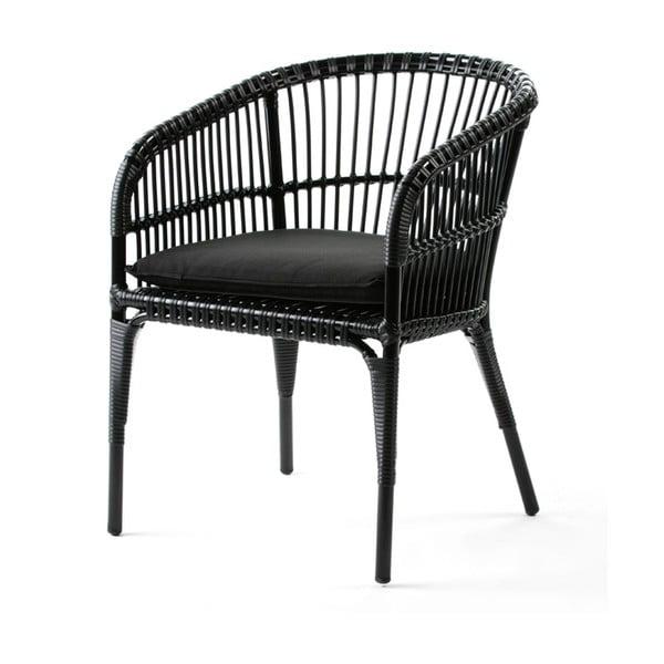 Czarne krzesło Thai Natura Woven