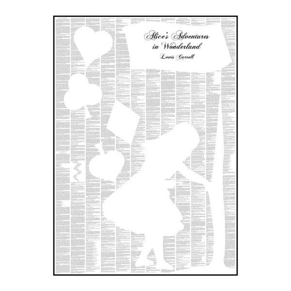Knižní plakát Alenka v říši divů, 50x70 cm
