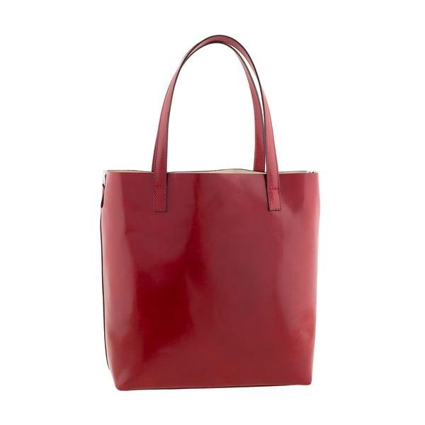 Červená kožená kabelka Ore Diece Trapani
