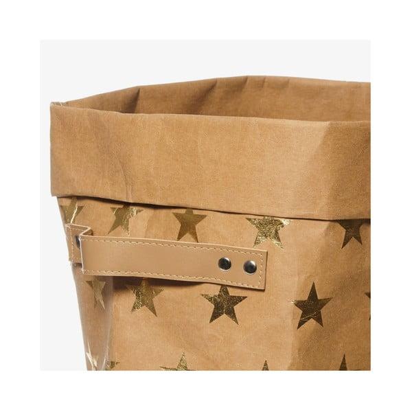 Coș din hârtie lavabilă pentru rufe Furniteam Storage, ⌀ 42 cm, maro