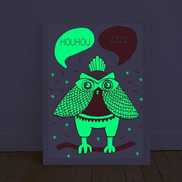 Plakát svítící ve tmě OMY Loula, 30 x 40 cm
