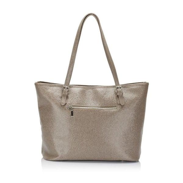 Béžová kožená kabelka Lisa Minardi Gosha