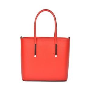 Červená kožená kabelka Luisa Vannini Alfonsina