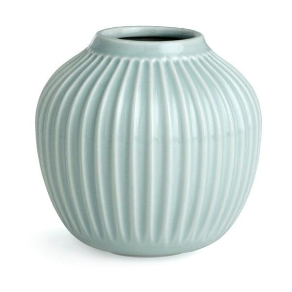 Mentolově modrá kameninová váza Kähler Design Hammershoi,výška 12,5 cm