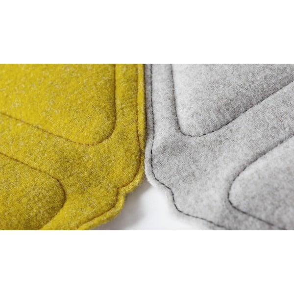 Modulový nástěnný koberec Edera, žlutý
