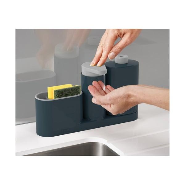 Šedý stojánek na mycí prostředky Joseph Joseph SinkBase Plus