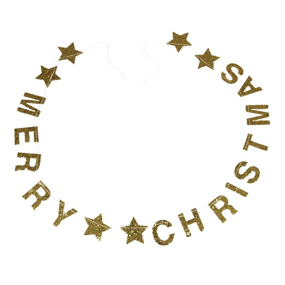 Vánoční girlanda s nápisem Rex London Gold Stars