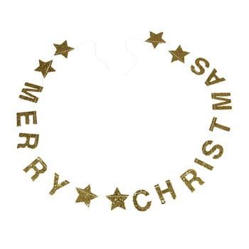 Ghirlandă de Crăciun cu mesaj Rex London Gold Stars imagine