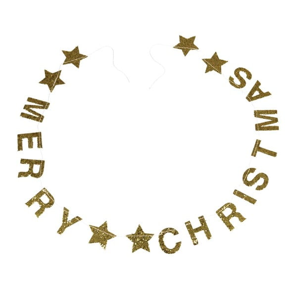 Ghirlandă de Crăciun cu mesaj Rex London Gold Stars